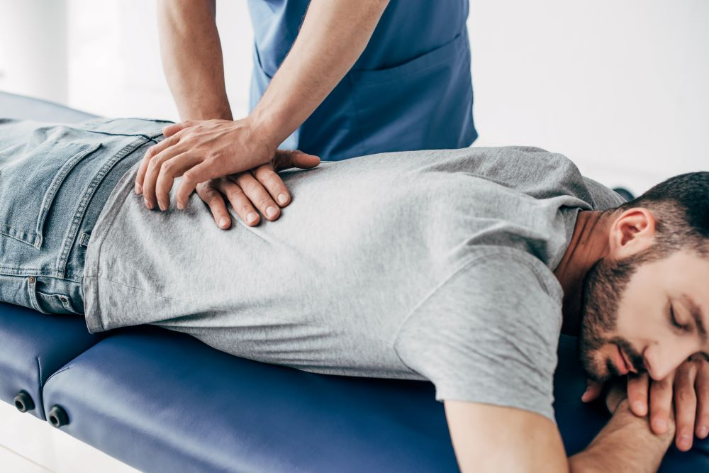 Flexion-Distraction to a patient
